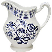 Vintage - J & G Meakin Classic White Blue Nordic Ironstone Creamer - Hanley England