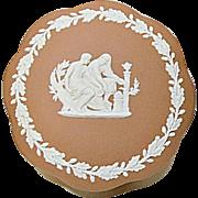 (HOLD FOR JB)  Lovely Wedgwood Jasper Ware Terra Cotta Scalloped Candy Box
