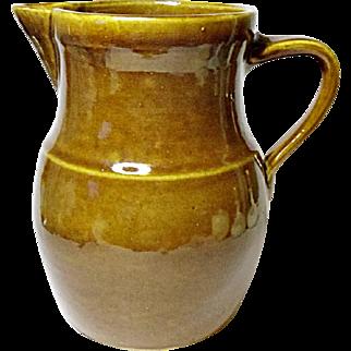 BIG BOY - Vintage Rockingham Pot Bellied Farm House Pottery Jug