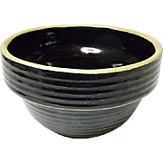 "Western Stoneware 5"" Small Mixing Bowl - Dark Brown - Rings"