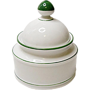 Seltmann Weiden - Bavaria - Rainbow Green Covered Sugar Bowl
