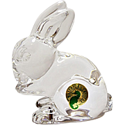 Waterford Crystal Bunny Rabbit - Paper Weight - Figurine W/Box - Made In Ireland
