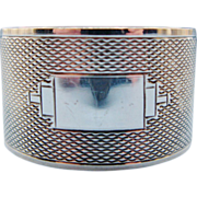 English Engine Turned Sterling Silver Napkin Ring 1948