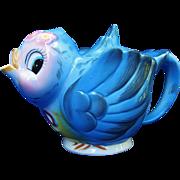 Vintage Lefton Japan Blue Bird Teapot 438