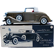 BANDAI Friction Tin 1933 Cadillac 759 Automobiles of the World Series With Box