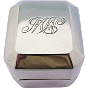 Antique Birks Ring Box Sterling Silver MW Monogram