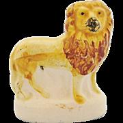 Antique Staffordshire Lion 19th Century Victorian Miniature Standing Lion