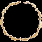 Vintage Dolphin Bracelet 14 Karat Yellow Gold  Porpoise Link
