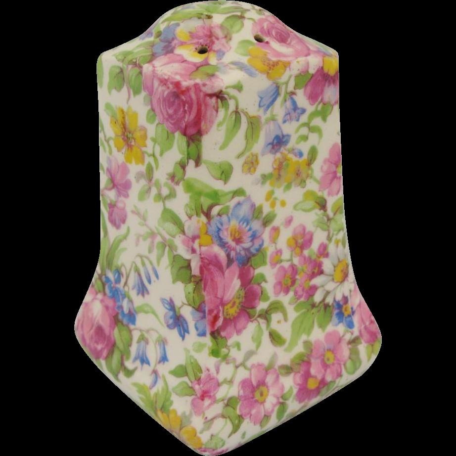 Summertime Chintz Sugar Shaker Vintage Floral Stella Shape
