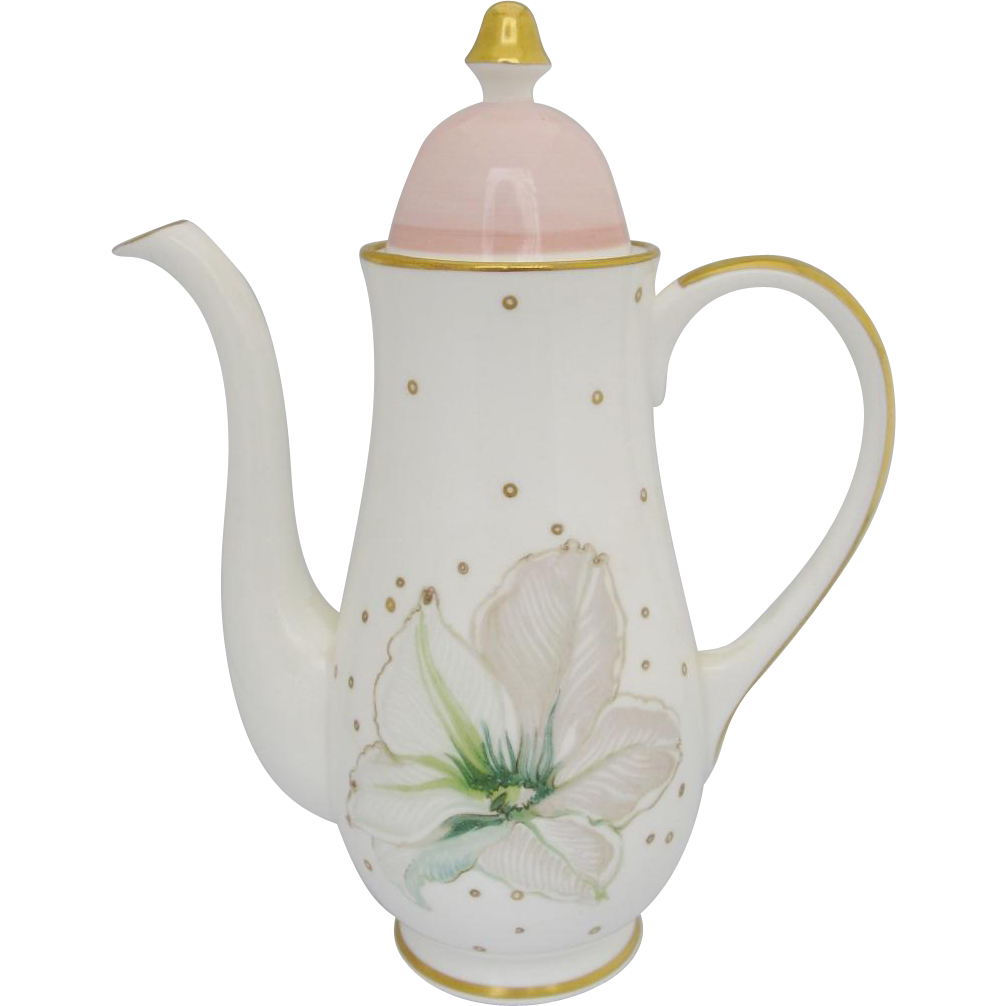 Susie Cooper Clematis Small Coffee Pot Discontinued Vintage Bone China
