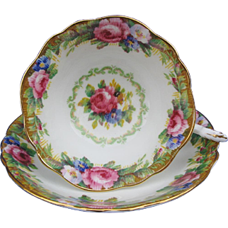 Paragon Tapestry Rose Tea Cup and Saucer Sets Vintage English Bone China