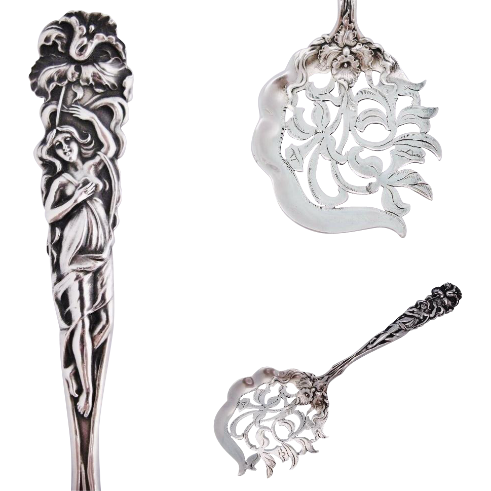 Art Nouveau Tomato Server Alvin Raphael 1902 Antique Sterling Silver