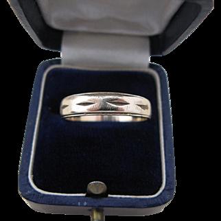 Vintage 10K Gold Men's Wedding Band Ring Size 9 3/4
