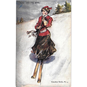 Glamour Woman Postcard 1907 Canadian Series No. 3 Valentine