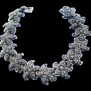 Vintage Starfish Link Bracelet Sterling Silver With Marcasites