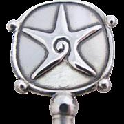 William Spratling Starfish Stirrer Mexican Sterling Silver Eagle Mark Vintage