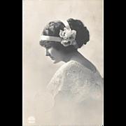 Pretty Lady Edwardian Postcard