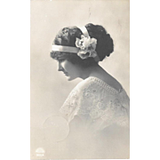 Pretty Lady Edwardian Postcard