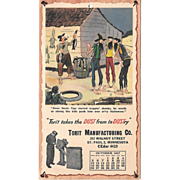 October 1947 Paul Webb Mountain Boys Advertising Calendar