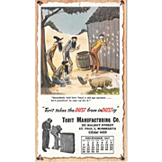 December 1947 Paul Webb Mountain Boys Advertising Calendar