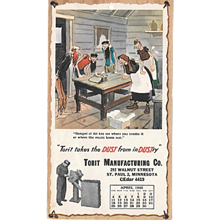 April 1948 Paul Webb Mountain Boys Advertising Calendar