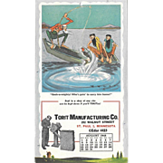 August 1948 Paul Webb Mountain Boys Advertising Calendar