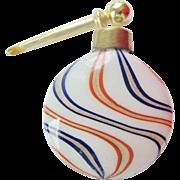 German Lutz Glass Perfume Bottle Miniature Lay Down Swirl Glass