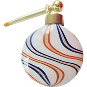 German Lutz Glass Perfume Bottle Miniature Lay Down Swirl Glass