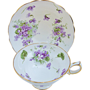 Hammersley Victorian Violets From England's Countryside Vintage Teacup Cup And Saucer