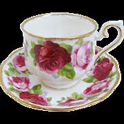 Royal Albert Old English Rose Vintage Teacup Cup And Saucer Hampton Shape