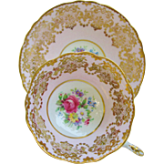 Vintage Paragon Teacup Pink Gold Floral Tea Cup And Saucer