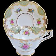 Royal Albert Empress Series Teacup Josephine Floral Tea Cup And Saucer