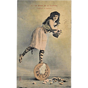 1905 French Wheel of Fortune Postcard
