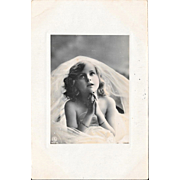 1909 Praying Girl First Communion RPPC Real Photo Postcard