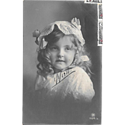 1911 Real Photo Postcard of Young Girl