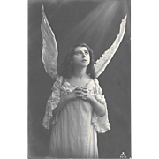 Angel RPPC Real Photo Postcard
