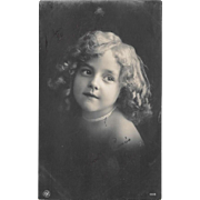 RPPC Young Girl With Pearls Real Photo Postcard