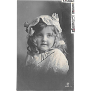 1911 RPPC Young Girl In Nightcap Real Photo Postcard
