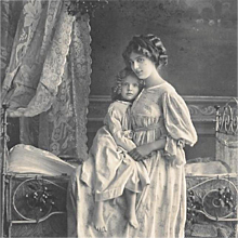 RPPC Mother and Child At Bedtime