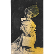 Unused RPPC Young Girl Playing Dress Up