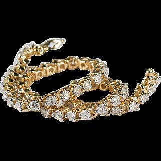 Diamond Bracelet 3.25ctw 14k Gold Natural Diamond Tennis Bracelet
