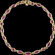 6ctw Ruby Bracelet 18k Gold Bezel Set Ruby Chain Link Bracelet By The Yard Gemstone Chain