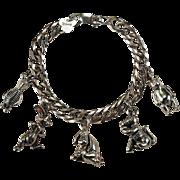 Disney Winnie The Pooh Limited Edition Charm Bracelet 925 Sterling Enamel Charm