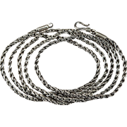 "Vintage 36"" Sterling Silver 925 Link Chain Pendant Necklace"