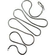 Vintage Sterling Silver Snake Chain 925 24 1/2""