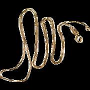 Vintage Box Chain 14k Gold Square Box Chain Necklace