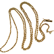 Classic Vintage Rope Chain 14k Gold 24""