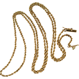 """Classic Vintage Rope Chain 14k Gold 24"""""""