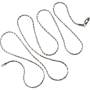 """Crossover Link Chain Necklace 24"""" 14k Gold Twist Link Pendant Chain"""