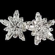 Diamond Stud Earrings 10k Gold ADL 1.80ctw Natural Diamond Snowflake Studs